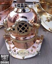Scuba U.S Navy Mark V Solid Copper & Brass Beautiful Shine Mini Divers Helmet