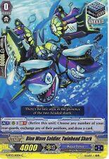 CARDFIGHT VANGUARD CARD: BLUE WAVE SOLDIER, TWINHEAD SHARK - G-BT13/110EN C