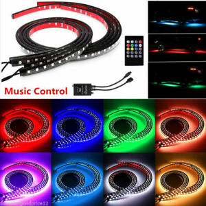 RGB LED Strip Under Car Tube Underglow Underbody Glow System Neon Light + Remote