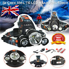 Camping Hunting Hiking 12000Lm 3x Cree XM-L T6 LED Headlamp Headlight Head Torch