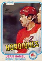 1981-82 O PEE CHEE / OPC HOCKEY #97 Jean Hamel  Quebec Nordiques