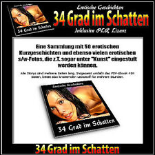 34 Grad im Schatten  (50 erotische Stories) - eBook/PDF-Format - PLR-Lizenz