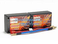 7.4V 6000mAh 100C 2S Saddle LiPo Battery Pack DEX410v4 TLR 22-4 B44.3 B5M ASC310