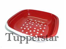 Tupperware Allegra Servierschale Rot-Weiß