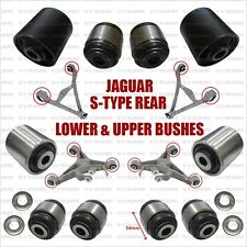 JAGUAR S TYPE / X350 UPPER AND LOWER REAR WISHBONE BUSHES, FULL SET FOR TWO ARMS