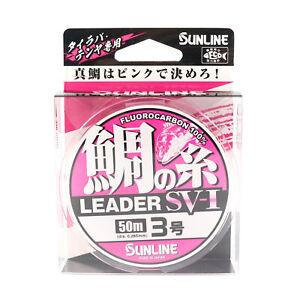 Sunline Fluorocarbon Snapper Leader SV-1 Pink 50m #3 Diameter 0.285 mm (7808)