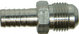 """MALE FLARE THREAD  to  BARBED HOSE - 3/8"""" BARB x 3/8"""" MFL - #127"""