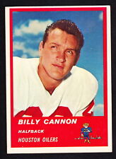 1963 FLEER #37 BILLY CANNON OILERS