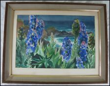 Helen Hitchcock Maxon (1906-?) Watercolor Painting Pride of Madeira Flowers