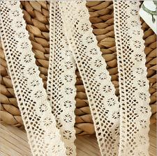 3 Yards Baumwollhäkelarbeit Spitze Hochzeitskleid Kleidungs dekoration zusätze