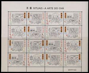 Macao SAR 1028 Sheet MNH - Tea Rituals