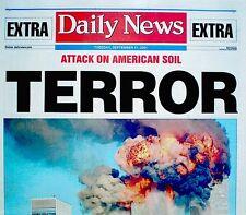 World Trade Center 9/11 2001 1st Headline Newspaper Los Angeles Daily News WTC