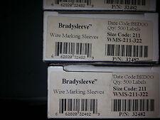 LOT OF 24 CARDS ***NIB*** BRADY WM-10 WIRE MARKERS WHITE #10
