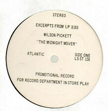 In Store Play PROMO VINYL LP- WILSON PICKETT  excerpts MIDNIGHT MOVER & more