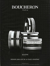 Publicité Contemporaine Bijou Boucheron Joaillerie  2013  P. 19
