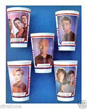 STAR TREK TNG Vintage PROMOTIONAL ICEE CUPS complete SET of 5 - NEW & Unused