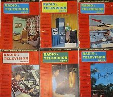 Vintage Radio Television News Magazines 1956 Lot of 6 Advertising Mid Century