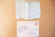 ANCIENNE CARTE  1956 + ENVELOPPE INFANTERIE A IDENTIFIER  !!