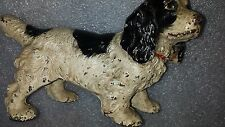 Original antique HUBLEY COCKER SPANIEL CAST IRON DOG DOORSTOP  vintage bookend