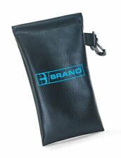 B-BRAND Spectacle Case Wide Opening PVC Pouch Easy Access Large ABS Hook