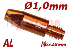 MIG MAG Stromdüse Kontaktdüse MB25 - M6x28mm - Ø1.0mm - AL für Aluminiumdra