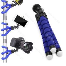 Blue Olympus cámara DSLR SLR trípode flexible Gorila Pulpo Soporte Soporte 1/4-20