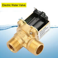 AC220V G1/2 N/O Pilot-operated Water Inlet Electric Solenoid Valve Brass Durable