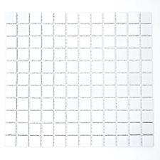 KEM Mosaik Keramikmosaik Mosaikfliesen Quadrat uni weiß glänzend 330 x 302 mm
