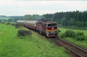 Lokomotive CSD / CD 753.171, Žamberk-Karlovice 7.7.1996