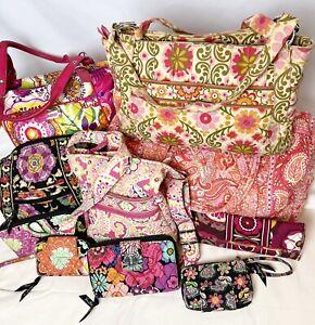 Vera Bradley Handbags/Wallets/Wristlets/Duffel- Lot of 10