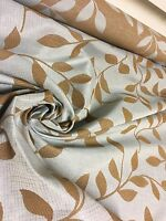 BEAUTIFUL PALE BLUE EMBROIDERY DAMAS DESIGNER CURTAIN UP FABRIC 3.2 METRES.