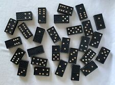 Vintage Full Set of 28 Wooden Dominoes Domino Dominos NOT BOXED