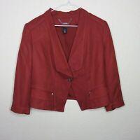 White House Black Market Rust Colored Crop Jacket Blazer - Women's Size 12