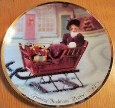 BARBIE COLLECTIBLES HOLIDAY TRADITIONS CHRISTMAS PLATE #16,960