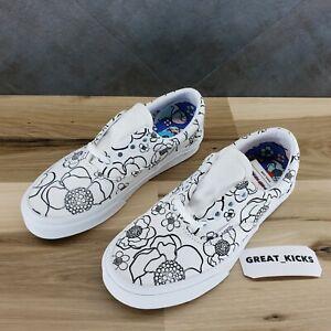 VANS ERA U-color Floral White Low Top Sneakers - Women's Size 6 [VN0A4U391UH]