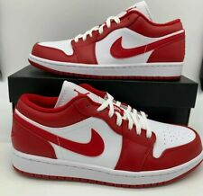 Nike Air Jordan 1 Low Shoes Gym Red White 553558-611 Mens Size Chicago