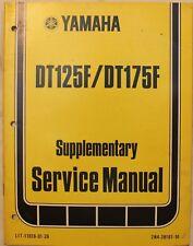m Original 1978 Yamaha Supplementary Service Manual DT125F/DT175F
