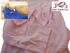 Cuddle Blanket Sleeves Pocket Soft Fleece Snuggle Xmas Gift Sofa Christmas-PINK