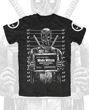 Wade Wilson Mugshot T-Shirt Deadpool,Chimichanga,Taco,Merc,Mouth,Anti,Hero