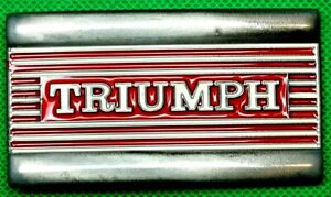 "Belt Buckle ""TRIUMPH"" Red, Fit 4 cm Wide Belt, DIY, Custom Metal Casting."
