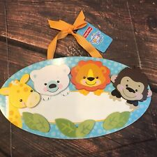 Fisher Price Precious Planet Baby Boy Nursery Wall Wood Name Plaque Personalized