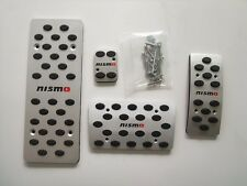 Aluminium Automatic Fuel Brake Footrests Pedals Cover Fit for Nissan Nismo AT