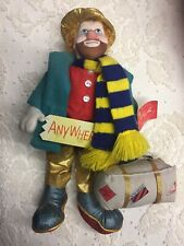Applause 1988 Ron Lee Doll Collection 2518 Georgie Clown Hobo Traveler Anywhere