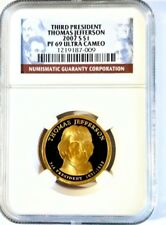 2007-S $1 Thomas Jefferson Ultra Cameo Presidential Dollar PF69 NGC