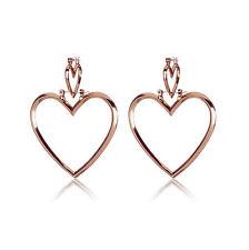 1 Pair Fashion New Women's Love Heart Shaped Hoop Earring Ear Studs Party Top