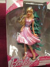 NEW mib Mattel BARBIE ornament HOLIDAY PARTY pink dress w tree Blond