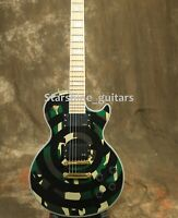 Custom Zakk Wyld Bellseys LP Electric Guitar Military Green Mahogany Body