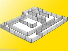 Kibri 38605 Valla de Tela metálica gris 280cm, kit construcción, H0