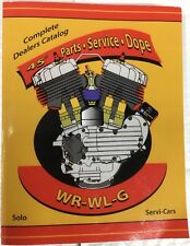 Harley WL WR Servicar Service, Parts, & Tuning Manual 1937-Up