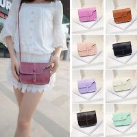 Women Girl Shoulder Bag Faux Leather Satchel Crossbody Tote Handbag Messenger